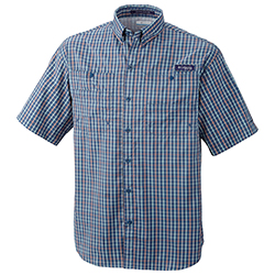Columbia Men's Super Tamiami Short Sleeve Shirt Grill Gingham Xl, Men's Boating Woven Technical Short-Sleeve Shirts