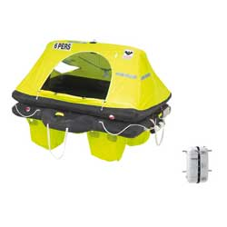 Viking 6 Person Coastal Liferaft Rescyou Model With Container, Life Rafts for Boats & Yachts