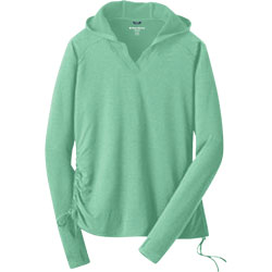 West Marine Women's Swell Hoodie Periwinkle, Women's Boating Knit Performance Long-Sleeve Shirts