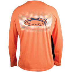 Bluefin Men's Long Sleeve Optical Tech Tee Coral Xl, Men's Boating Graphic Performance Long-Sleeve Tees