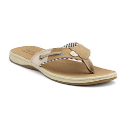 Sperry Top Sider Women's Seafish Thongs Brown Sequins 8, Women's Boating Sandals