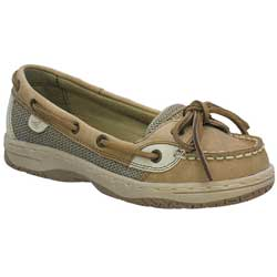 Sperry Top Sider Girls' Angelfish Mocs Kid's Mocs Linen/oat 12 5, Women's Boating Moccasins