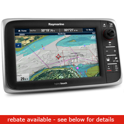 Raymarine E Series E95 Network Multi Function Display With Wireless Capability 9'' Diagonal No Chart, Network Displays for Boats & Yachts