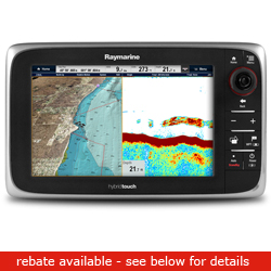 Raymarine E Series E97 Network Multi Function Display With Wireless Capability 9'' Diagonal Sonar No Chart, Network Displays for Boats & Yachts