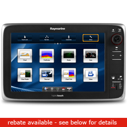 Raymarine E Series E125 Network Multi Function Display With Wireless Capability 12 1'' Diagonal Us Coastal Chart, Network Displays for Boats & Yachts