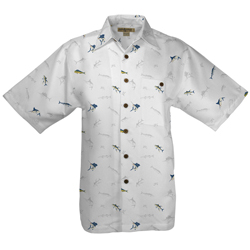 Hook & Tackle Men's Salty Mix Short Sleeve Shirt White Xl, Men's Boating Woven Casual Long-Sleeve Shirts