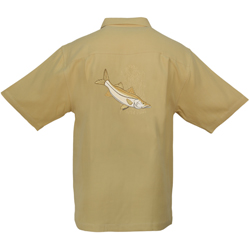 Hook & Tackle Men's Snook Short Sleeve Shirt Sunkiss Xl, Men's Boating Woven Casual Long-Sleeve Shirts