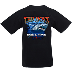 Hook & Tackle Men's The Boyz Are Back Tee White, Men's Boating Graphic Short-Sleeve Tees