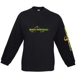 Hook & Tackle Men's Bull Dolphin Skinz Long Sleeve Tech Tee Navy Xl, Men's Boating Graphic Performance Long-Sleeve Tees