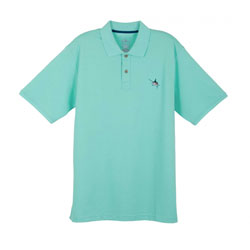 Guy Harvey Men's Aftcool Micro Pique Polo Shirt Red 2xl, Men's Boating Performance Polo Shirts
