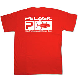 Pelagic Men's Flag Logo Short Sleeve Tee Sailfish Tee White 2xl, Men's Boating Graphic Short-Sleeve Tees