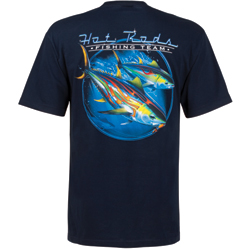 West Marine Men's Hot Rods Short Sleeve Tee Navy, Men's Boating Graphic Short-Sleeve Tees