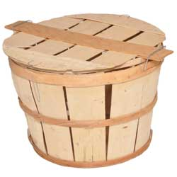 Chesapeake Crabbing Supplies Wooden Bushel Basket With Lid, Crab & Lobster Traps for Boats & Yachts