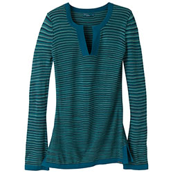 Prana Women's Ingrid Tunic Blue Spruce, Women's Boating Knit Long-Sleeve Shirts
