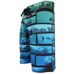 Pelagic Men's 4 Tek Board Shorts Panorama 40, Men's Boating Board Shorts