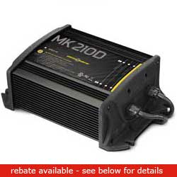 Minn Kota Mk210d Battery Charger (2 Bank), Fishing Trolling Motor Accessories for Boats & Yachts