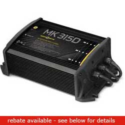 Minn Kota Mk315d Battery Charger (3 Bank), Fishing Trolling Motor Accessories for Boats & Yachts