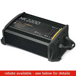 Minn Kota Mk220d Battery Charger (2 Bank), Fishing Trolling Motor Accessories for Boats & Yachts