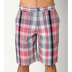 O'neill Men's Vortex Walk Shorts Red/white Plaid 38, Men's Boating Casual Constructed Shorts