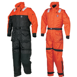Mustang Survival Type V Uscg Anti Exposure Work Suit Large 46'' 50'' Chest Black/orange, Commercial Life Jackets for Boats & Yachts