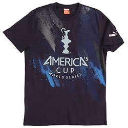 Puma Men's America's Cup Storm Tee Navy, Men's Boating Graphic Short-Sleeve Tees