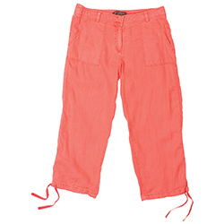 Tommy Bahama Women's Two Palms Tie Cropped Pants Burnt Coral 4, Women's Boating Capris