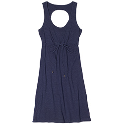 Tommy Bahama Women's Arden Jersey Open Back Dress Ocean Deep L, Women's Boating Short Dresses
