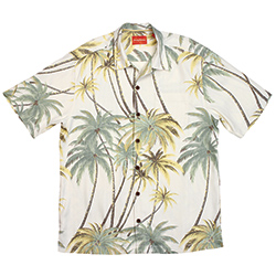 Tommy Bahama Men's Twilight Palms Camp Shirt Ocean, Men's Boating Woven Casual Long-Sleeve Shirts