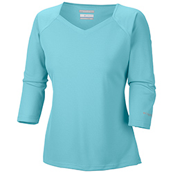 Columbia Women's Skiff Guide 3/4 Sleeve Shirt White, Women's Boating Knit Performance Long-Sleeve Shirts