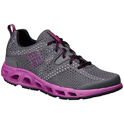 Columbia Women's Drainmaker Ii Shoes Charcoal/violet 6, Women's Boating Technical Shoes