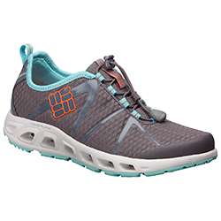Columbia Women's Powerdrain Cool Shoes Grey/blue/white 7, Women's Boating Technical Shoes