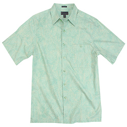 Weekender Men's Palms All Over Shirt Blue Mist, Men's Boating Woven Casual Long-Sleeve Shirts