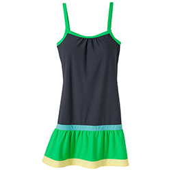 Prana Women's Synergy Dress Coal/green Xl, Women's Boating Short Dresses