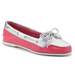 Sperry Top Sider Women's Audrey Slip On Boat Shoes Pink/white/silver 7 5, Women's Boating Moccasins