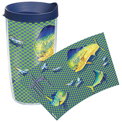 Tervis Guy Harvey Dorado Wrap Tumbler With Lid, Boat Drink Holders