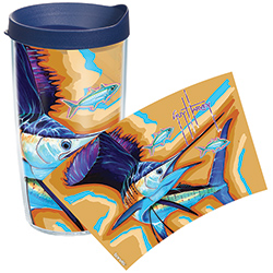 Tervis Guy Harvey Sailfish Wrap Tumbler With Lid, Boat Drink Holders