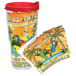 Tervis Passed Out In My Hammock 24 Oz Wrap Tumbler With Lid, Boat Drink Holders