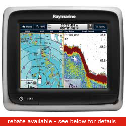 Raymarine A67 Touchscreen Chartplotter / Sounder No Charts, Network Displays for Boats & Yachts