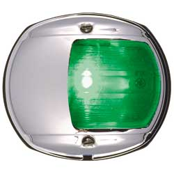Perko Green Lens And Chrom Shield Assembly, Navigation Lights for Boats & Yachts