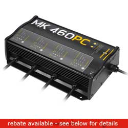 Minn Kota Precision Board Battery Chargers Mk 460 Pc Charger Banks 15 Amps/bank 16''l X 10''w 3 3/4'' H 15 75 Lb, Fishing Trolling Motor Accessories for Boats & Yachts