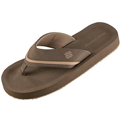 West Marine Men's Shore Side Flip Flops Brown 10, Men's Boating Sandals
