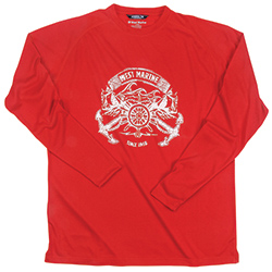West Marine Men's Admiral Crest Tee Limoges Xl, Men's Boating Graphic Performance Long-Sleeve Tees