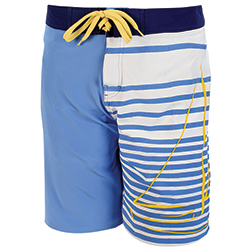 West Marine Men's Ocean Print Board Shorts Medieval Blue/anchor 36, Men's Boating Board Shorts