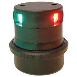 Aqua Signal Series 34 Led Navigation Light Tri Color Black Housing, Navigation Lights for Boats & Yachts