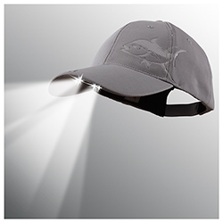 Waters Industries Powercap Led Lighted Hat Navy Marlin, Boating Technical Hats