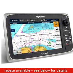 Raymarine E165 Multi Function Display Europe Chart, Network Displays for Boats & Yachts