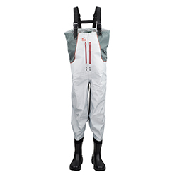 Hodgman Men's Cedar Run Chest Waders Grey/white 10, Men's Boating Boots