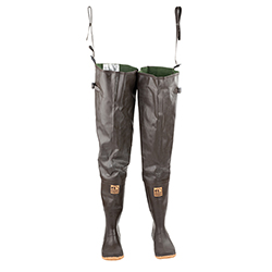 Hodgman Men's Caster Cleated Hip Waders Brown 10, Men's Boating Boots