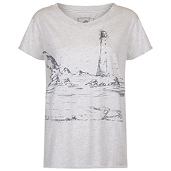 Henri Lloyd Women's Diana Graphic V Neck Tee Indigo 2xl, Women's Boating Graphic Short-Sleeve Tees