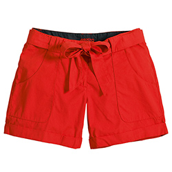 Musto Women's Bow Multi Pocket Shorts Red 2xl, Women's Boating Casual Shorts